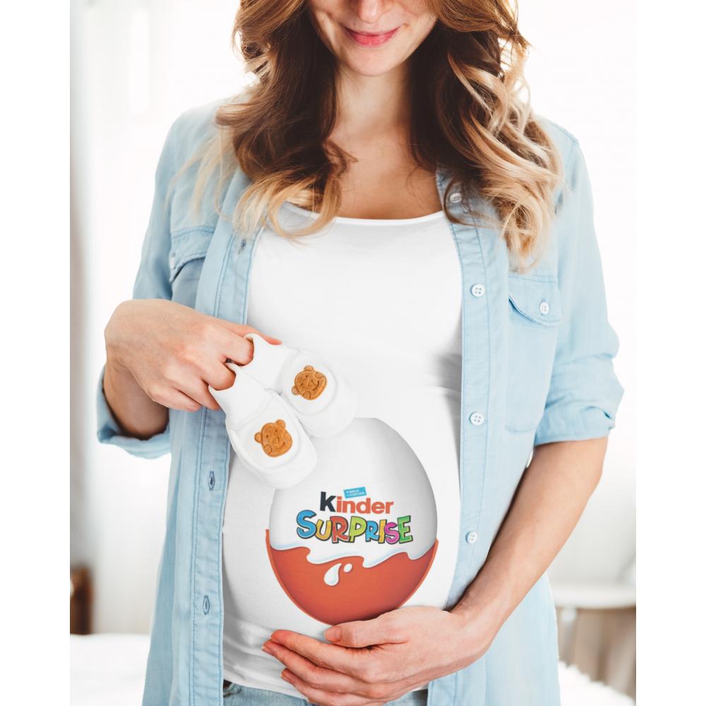 Дамска тениска за бременни Kinder Surprise Egg