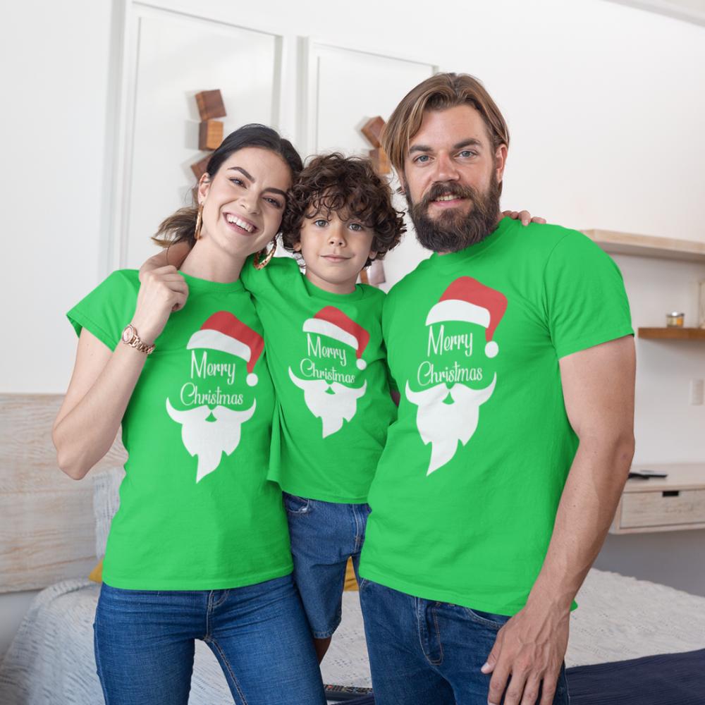 Коледен семеен комплект в зелено Merry Christmas Beard