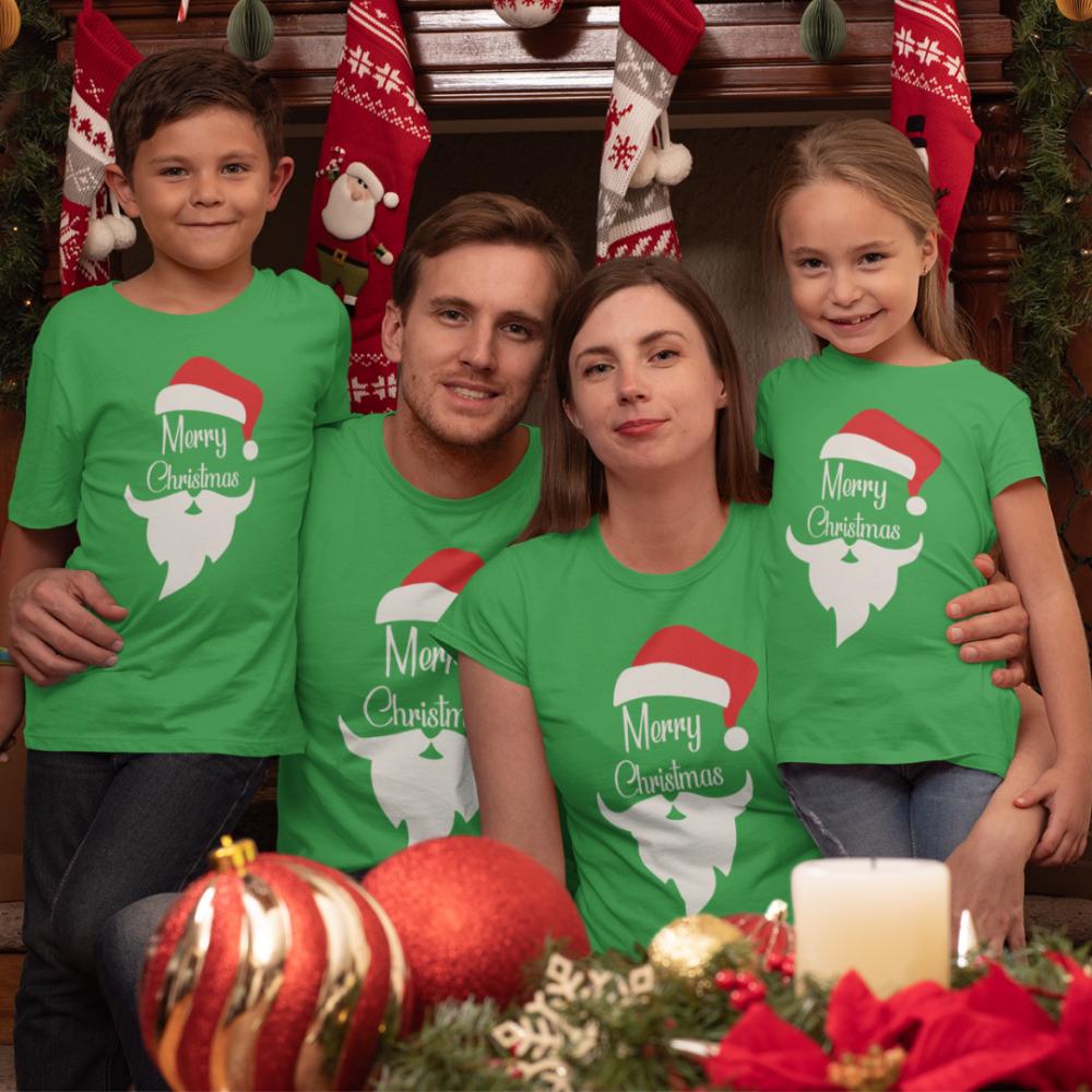 Семеен комплект в зелено Merry Christmas Beard