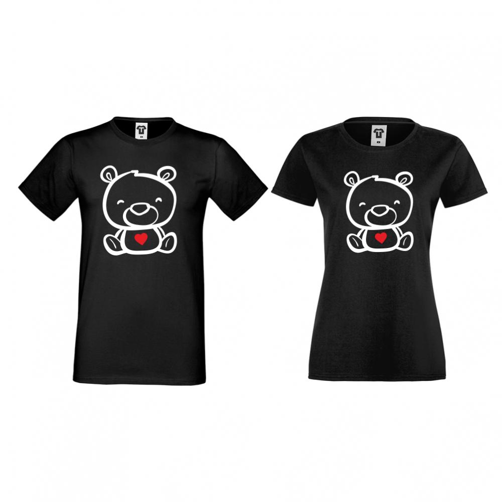 Тениски за двойки в черно Bears