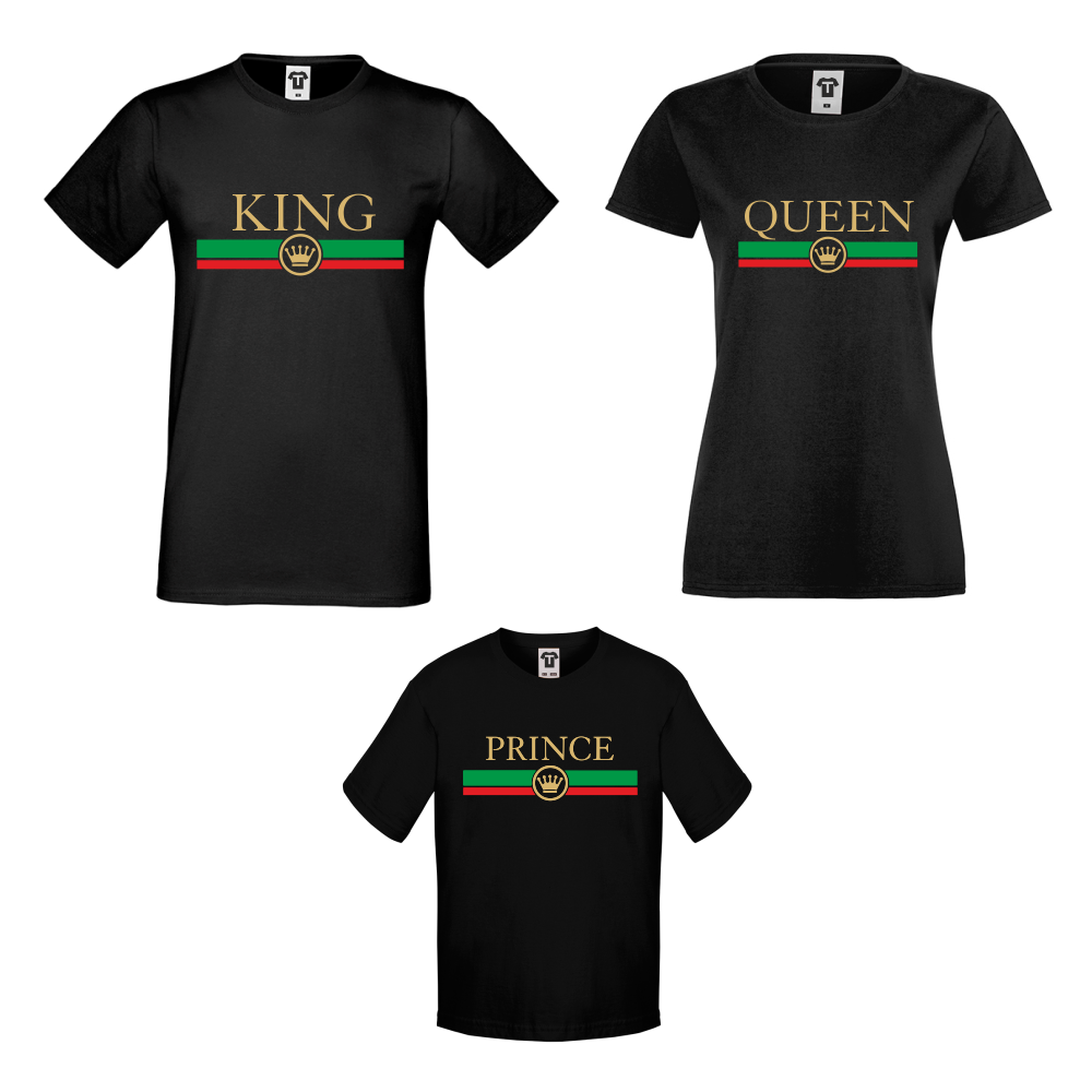 Семеен комплект тениски King - Queen - Prince  RG