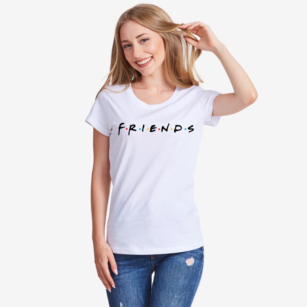 Дамска бяла тениска Friends