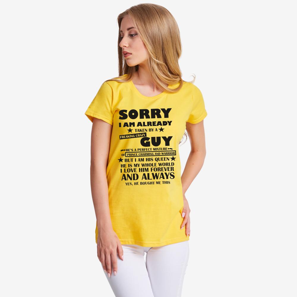 Дамска жълта тениска Sorry