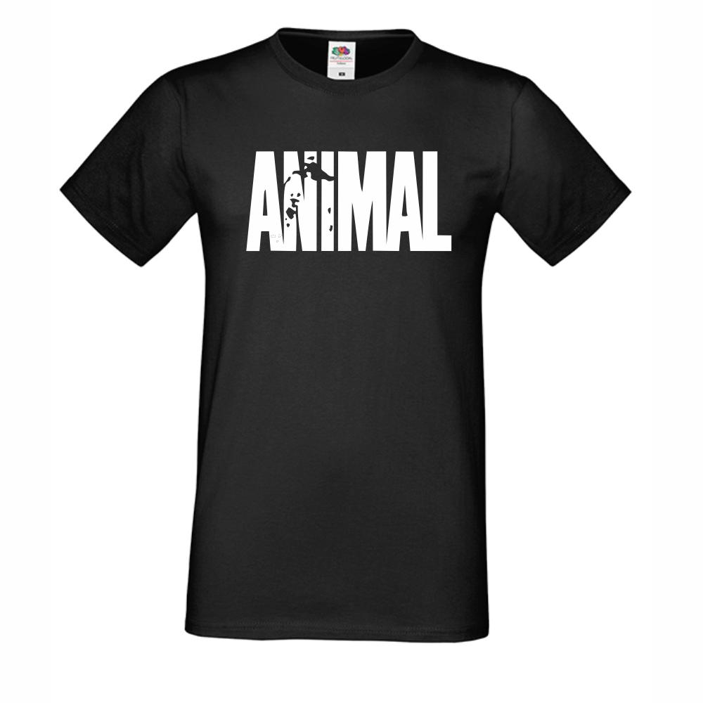 Мъжка черна тениска Animal