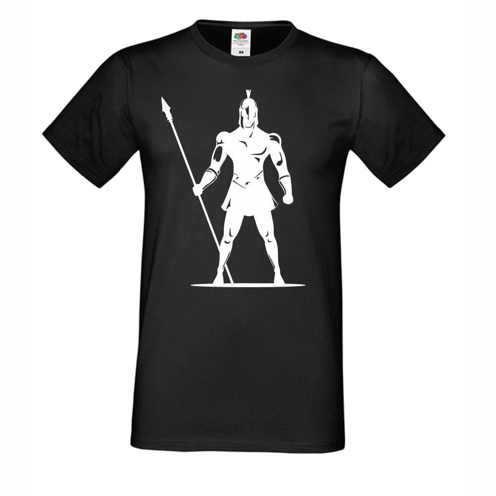 Мъжка Черна Тениска Soldier