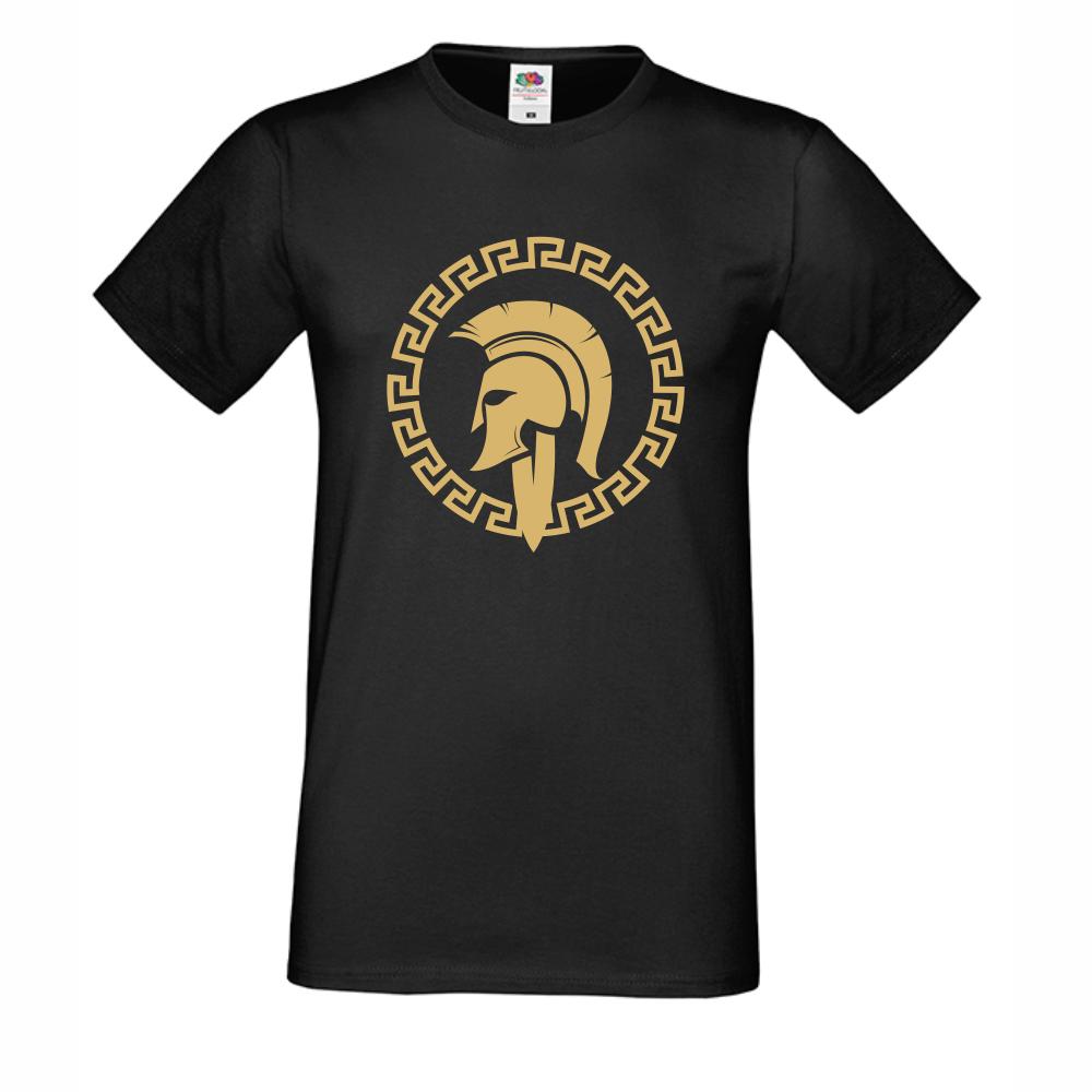 Мъжка черна тениска Spartan