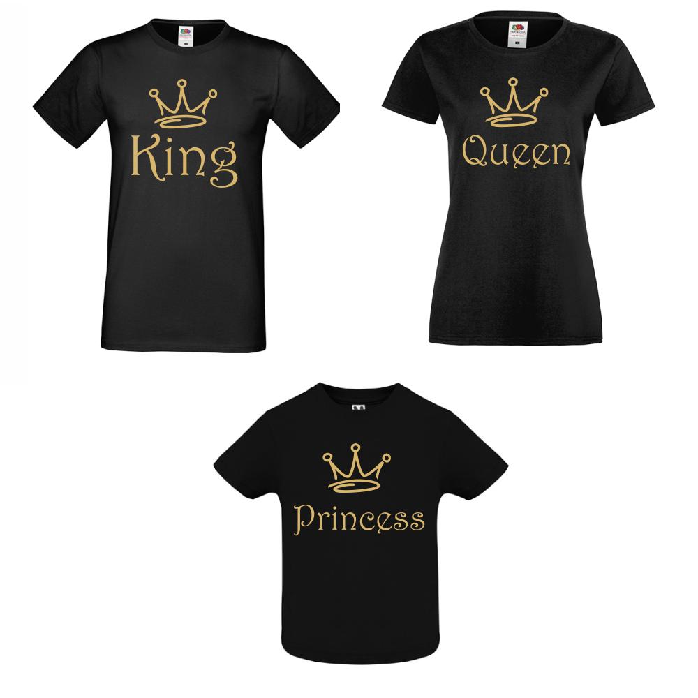 Семеен Комплект Тениски King, Queen and Princess