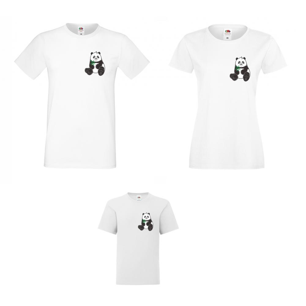 Семеен Комплект Тениски Pocket Pandas
