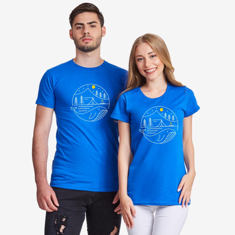 Сини тениски за двойки Camping Couple