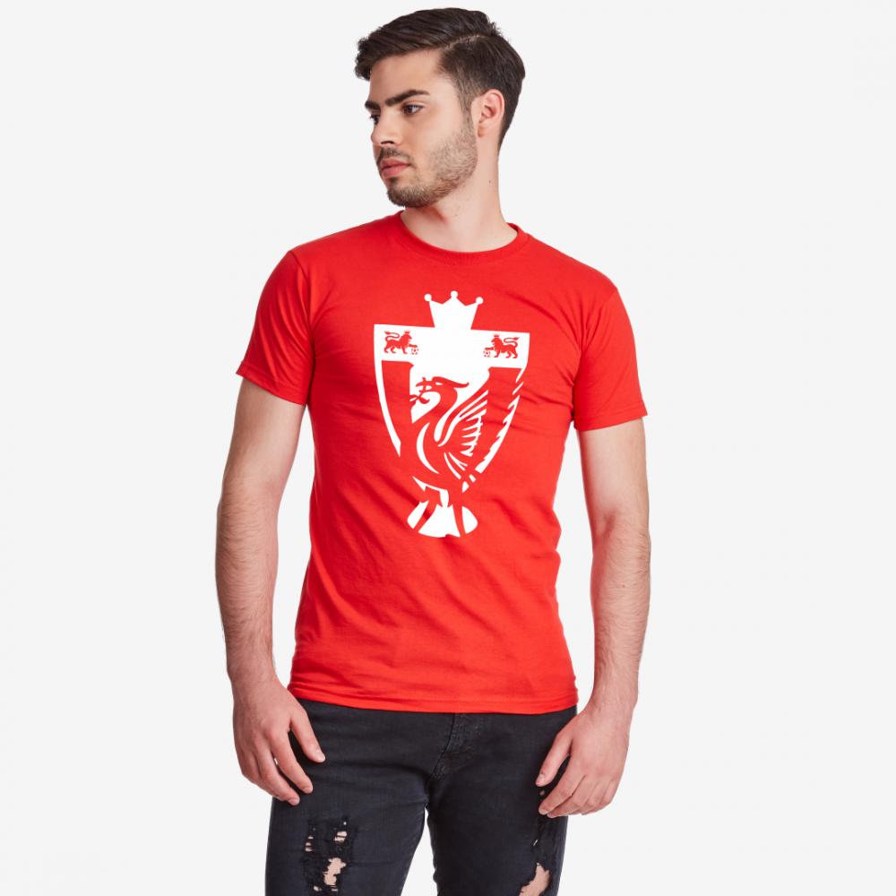 Червена Мъжка тениска Liverpool Champions
