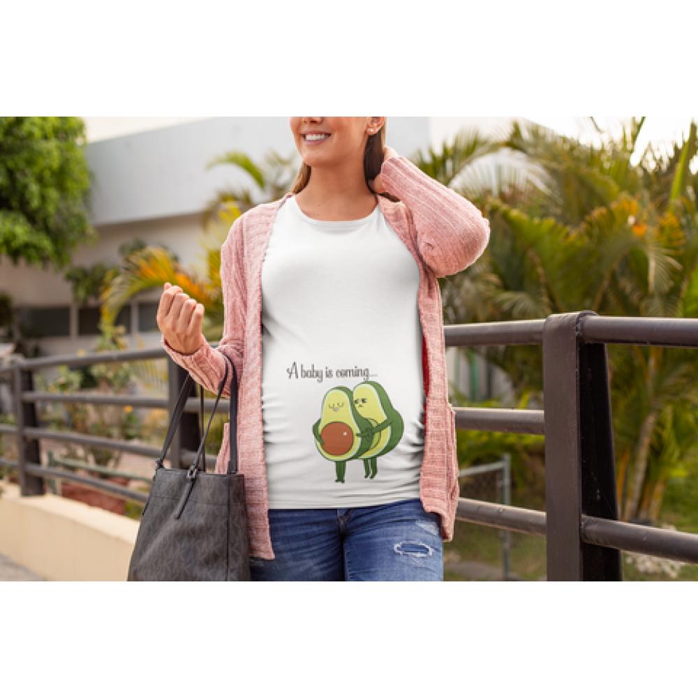 Дамска тениска за бременни Avocado