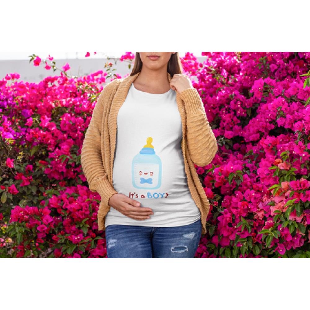 Дамска тениска за бременни Bottle Boy