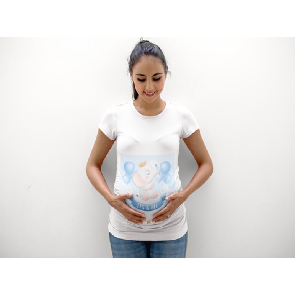 Дамска тениска за бременни  Elephant Boy