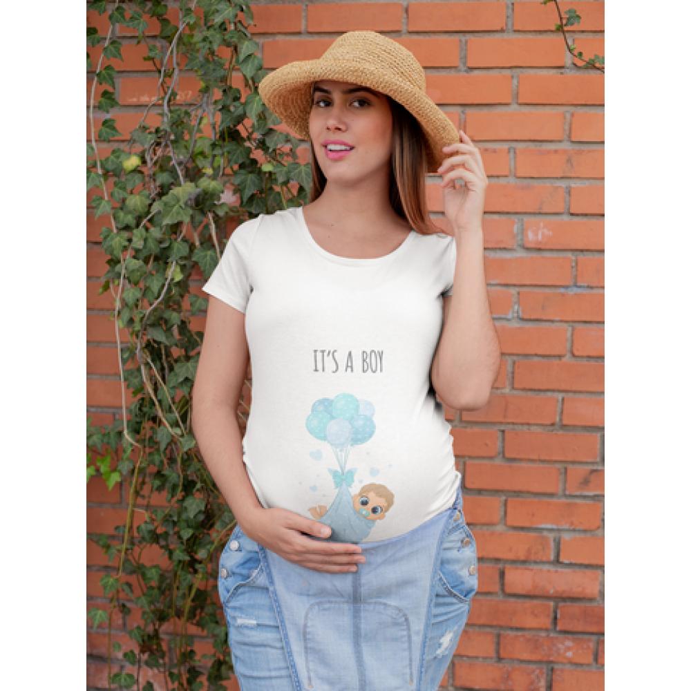 Дамска тениска за бременни  It's a boy