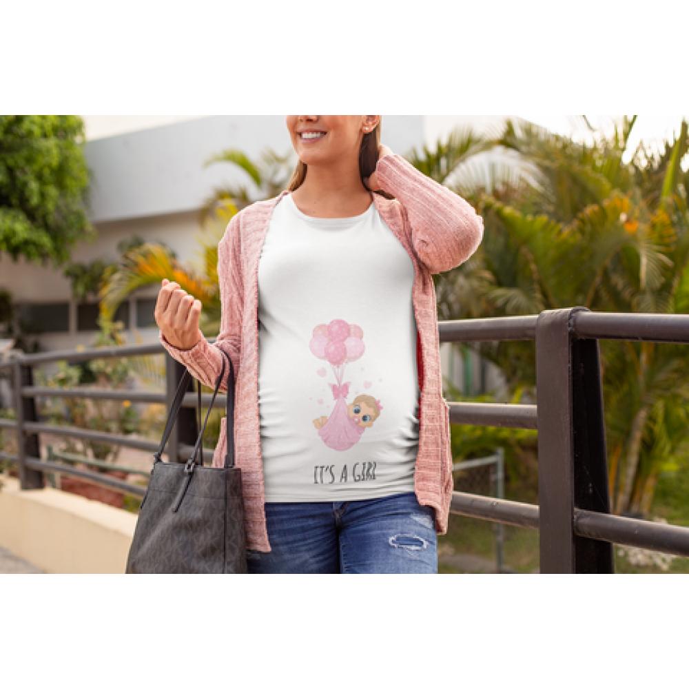 Дамска тениска за бременни It's a girl