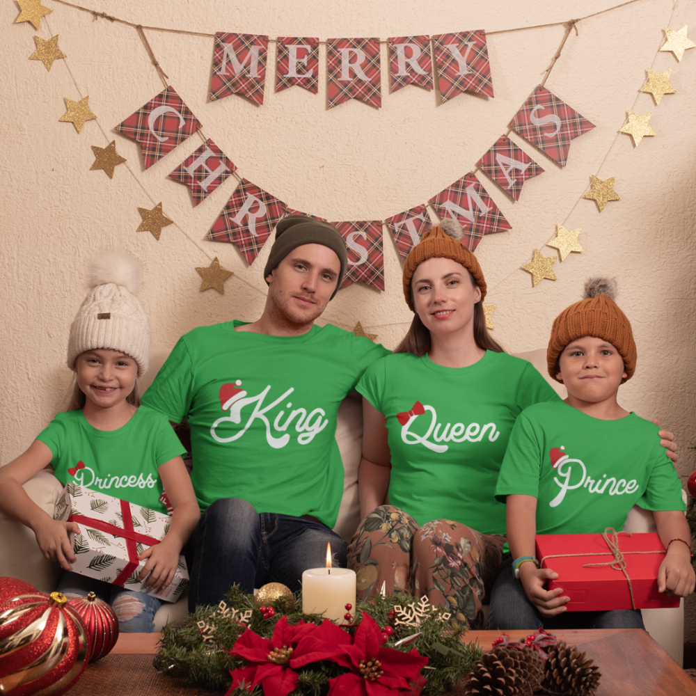 Коледен семеен комплект тениски Christmas Royal Family