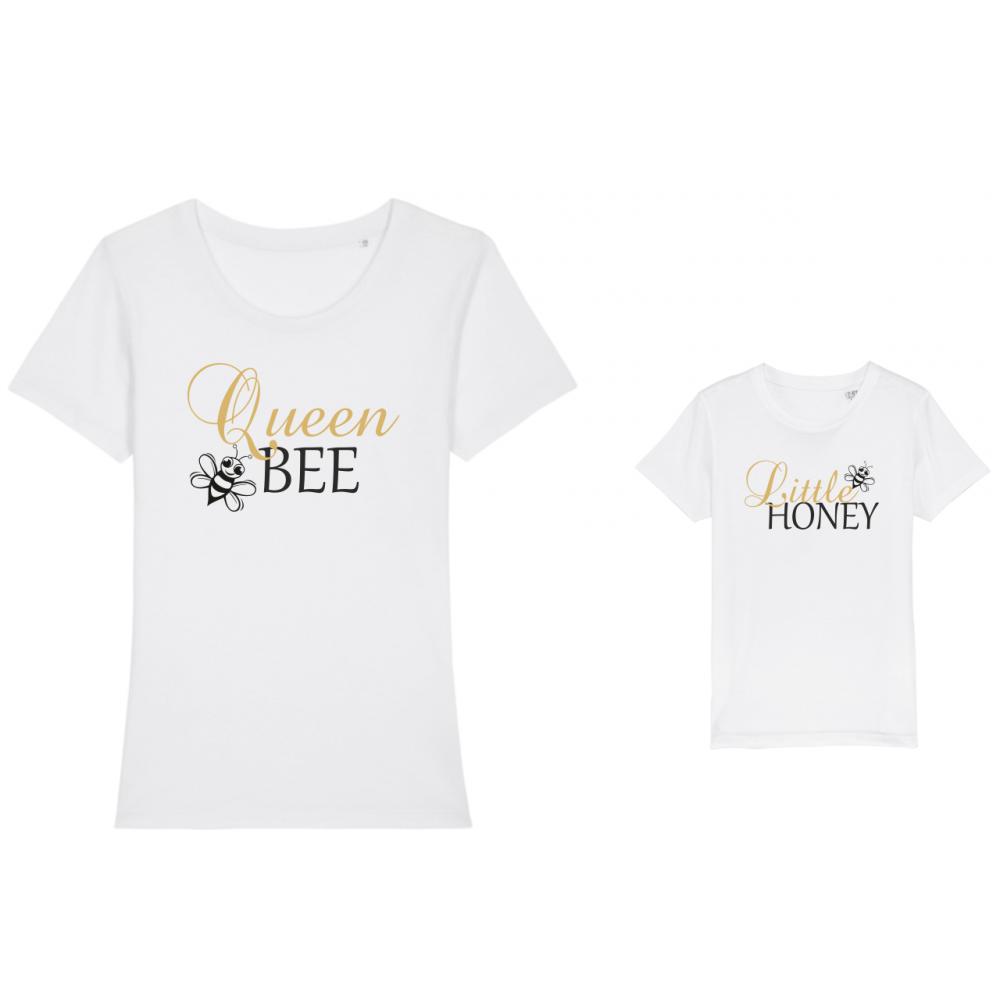 Тениски за майка и дете Bee Queen