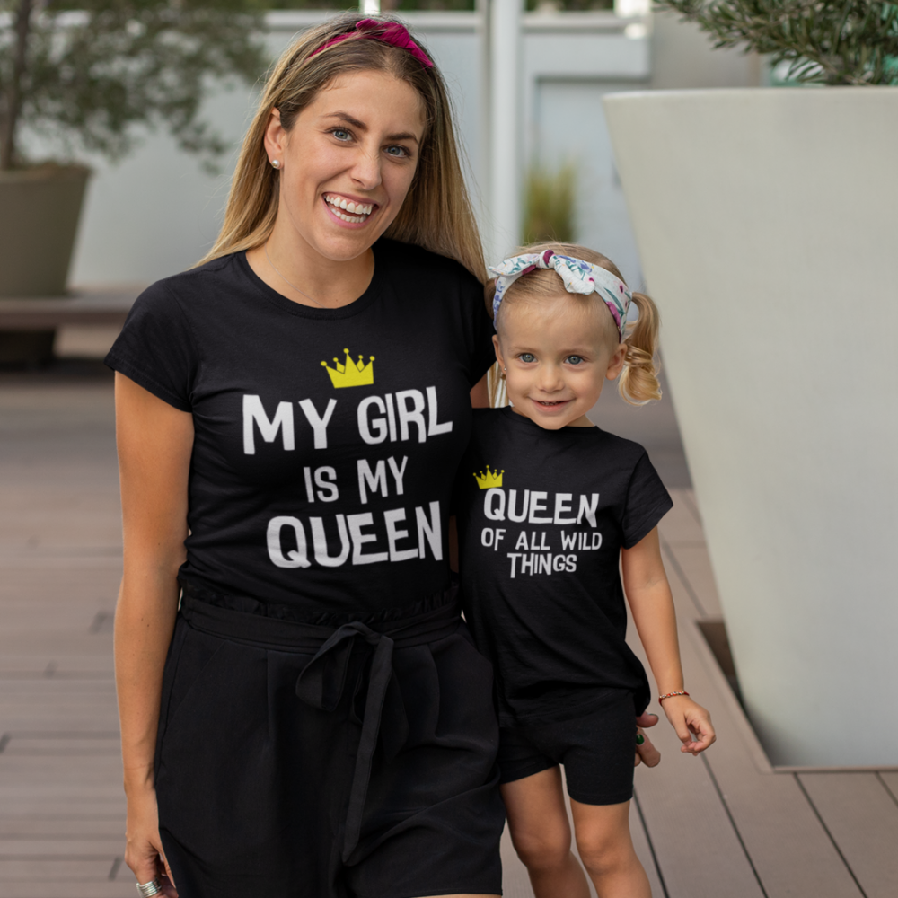 Тениски за майка и дъщеря My Girl Is My Queen