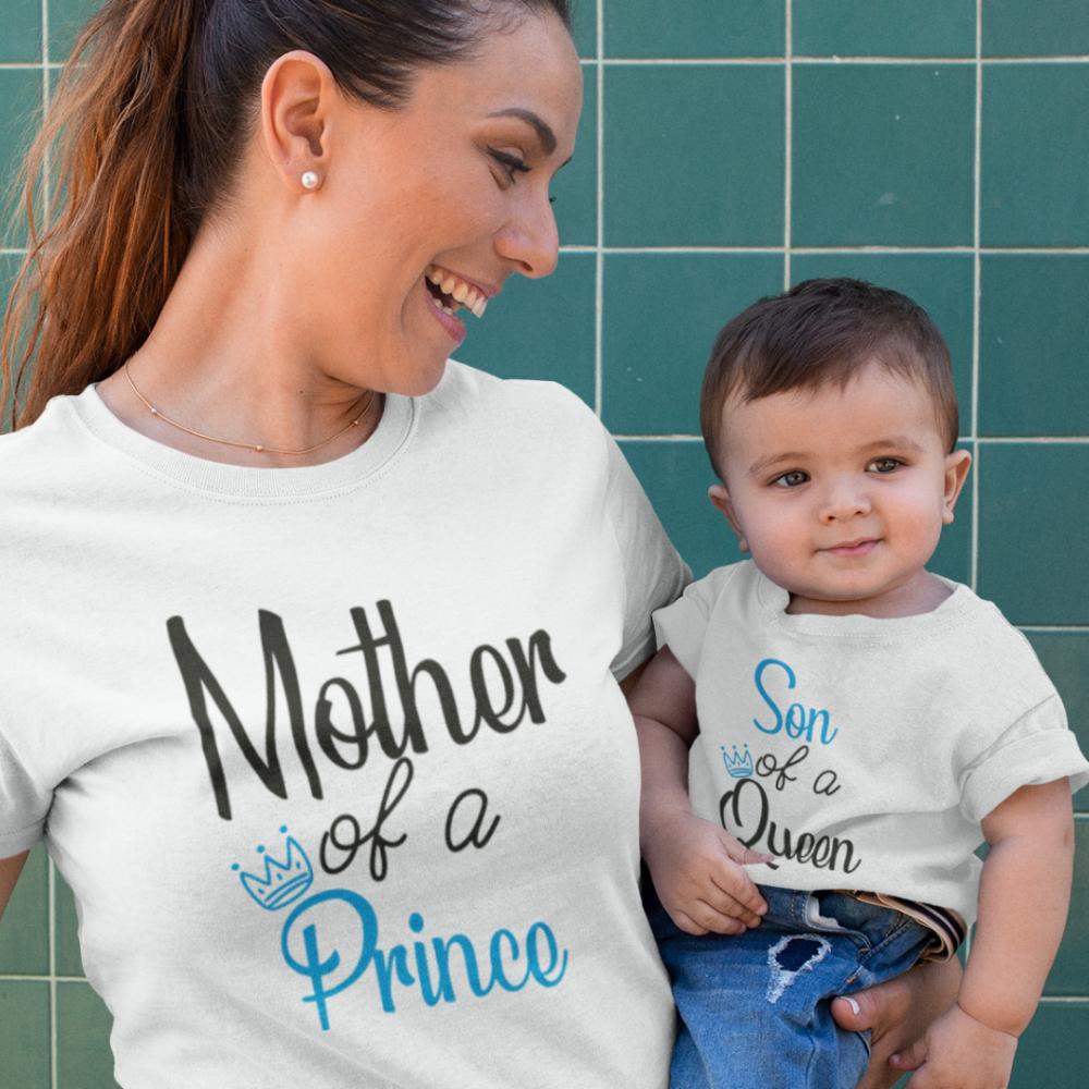 Тениски за майка и син Mother of a prince