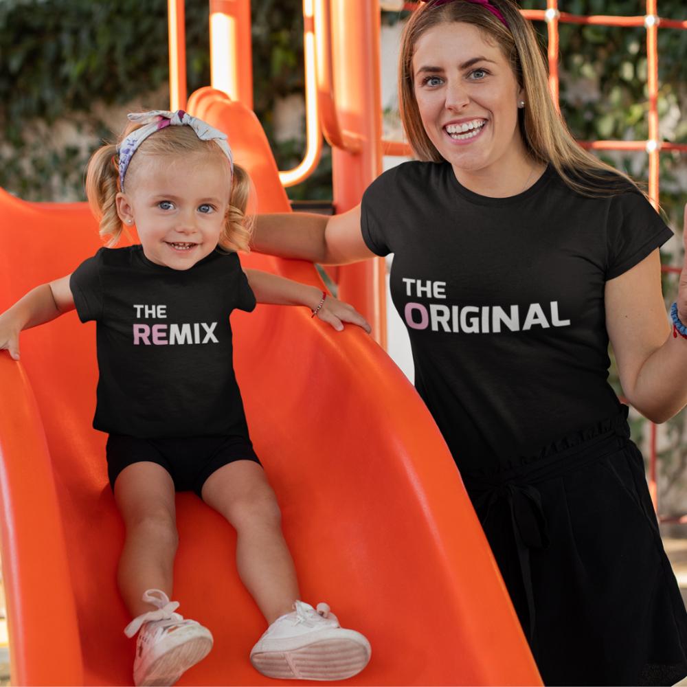 Тениски за родител и дете The Original - The Remix