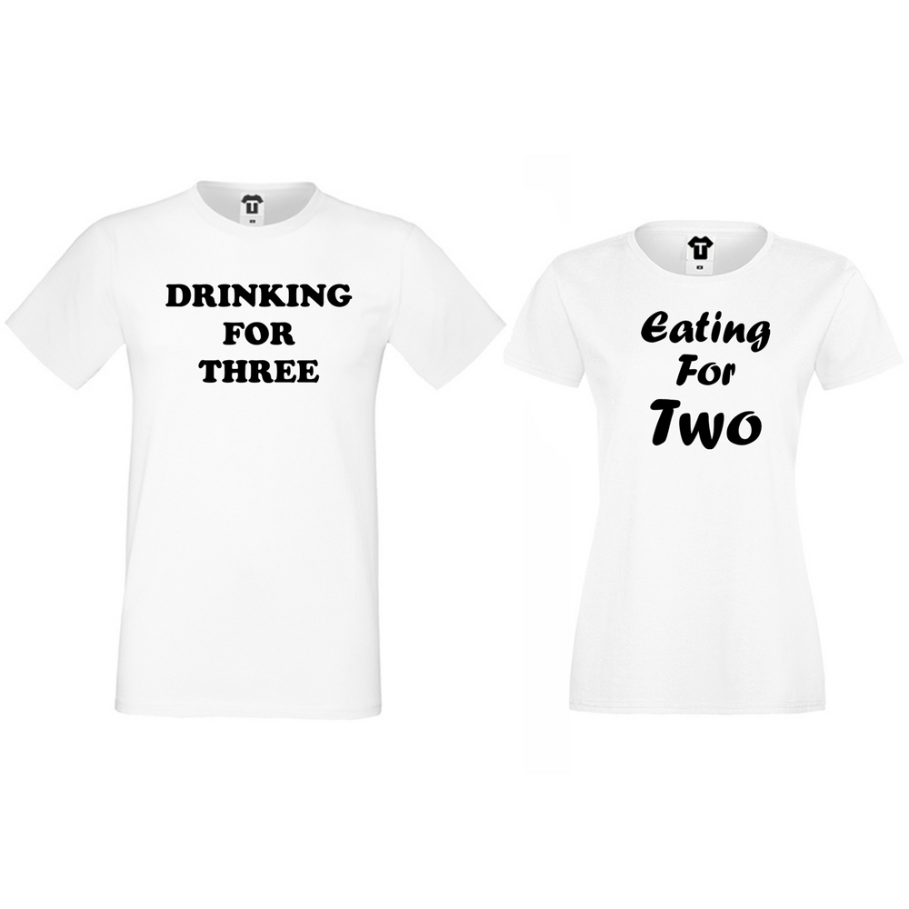 Комплект бели за двойки Drinking for three and Eating for two