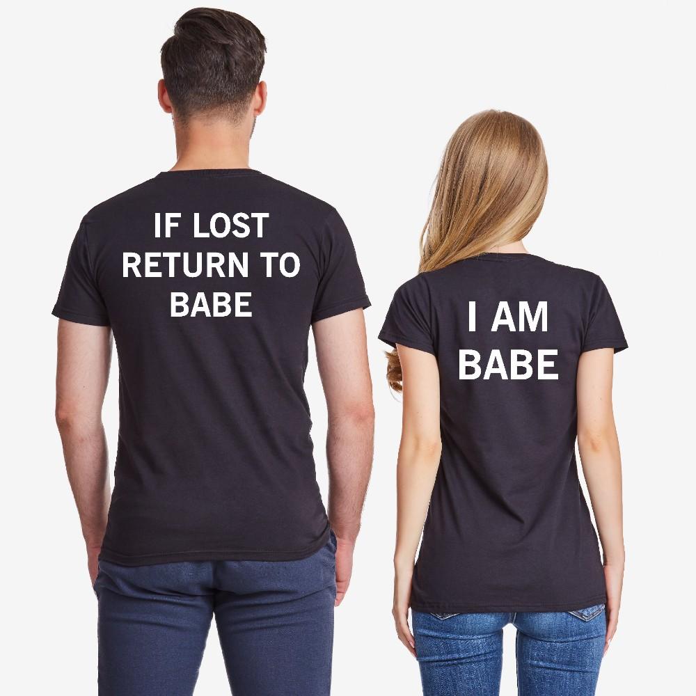 Комплект тениски за двойки в черно IF LOST