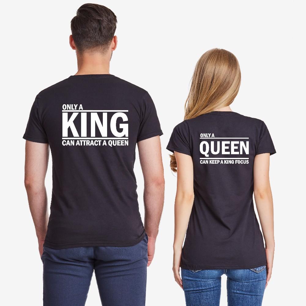 Комплект тениски за двойки в черно ONLY KING