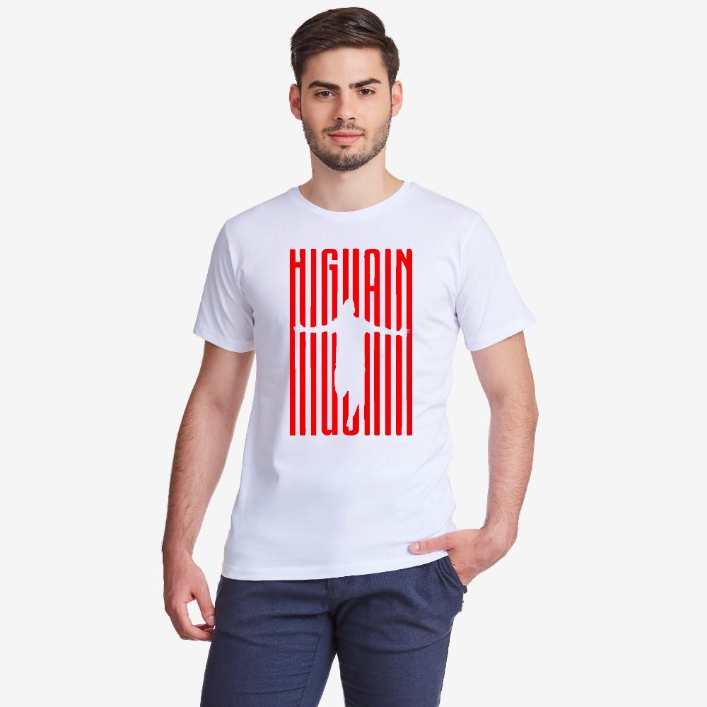 Мъжка бяла тениска Higuain Milan