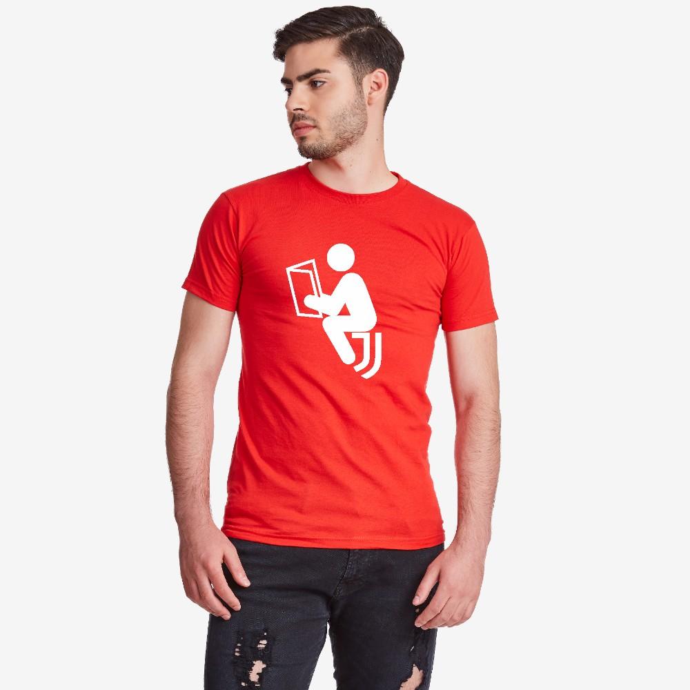 Мъжка червена тениска Anti Juve