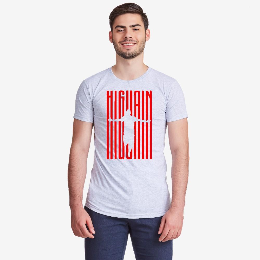 Мъжка сива тениска Higuain Milan