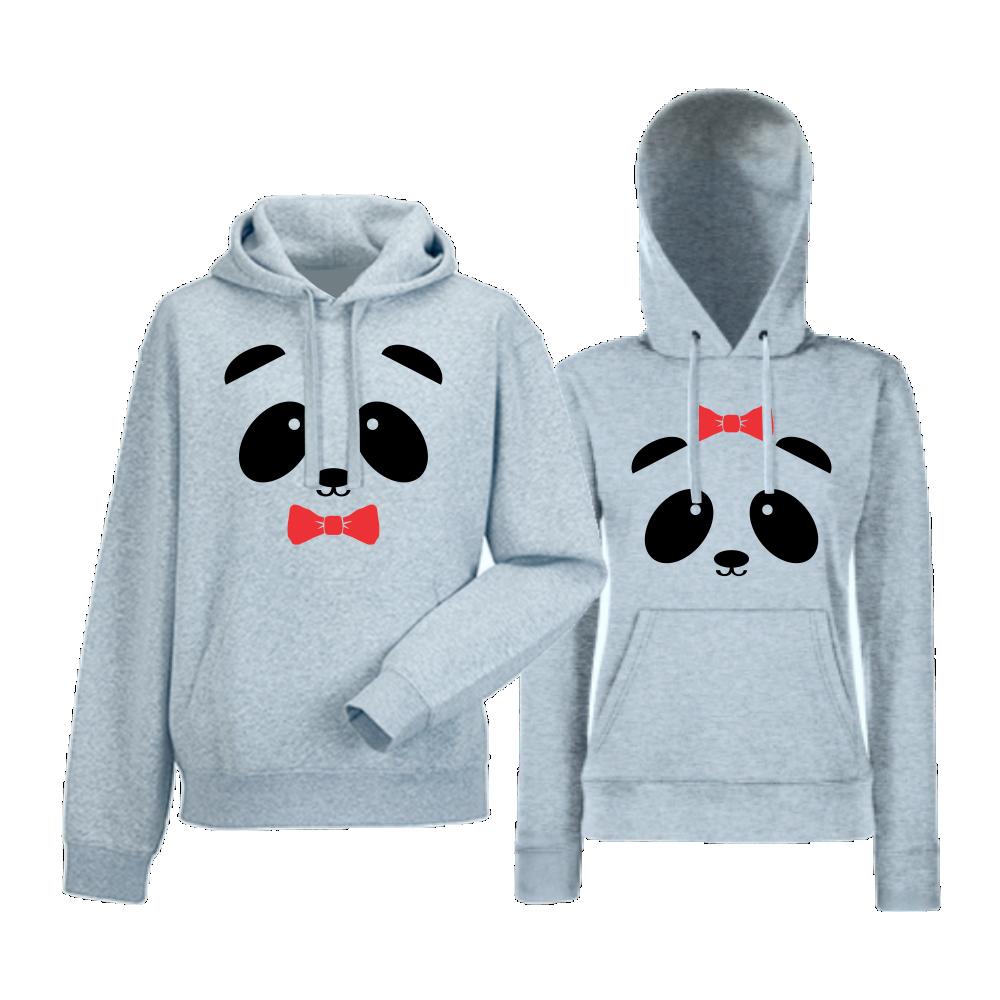 Сиви суитчери за двойки Sweet Panda
