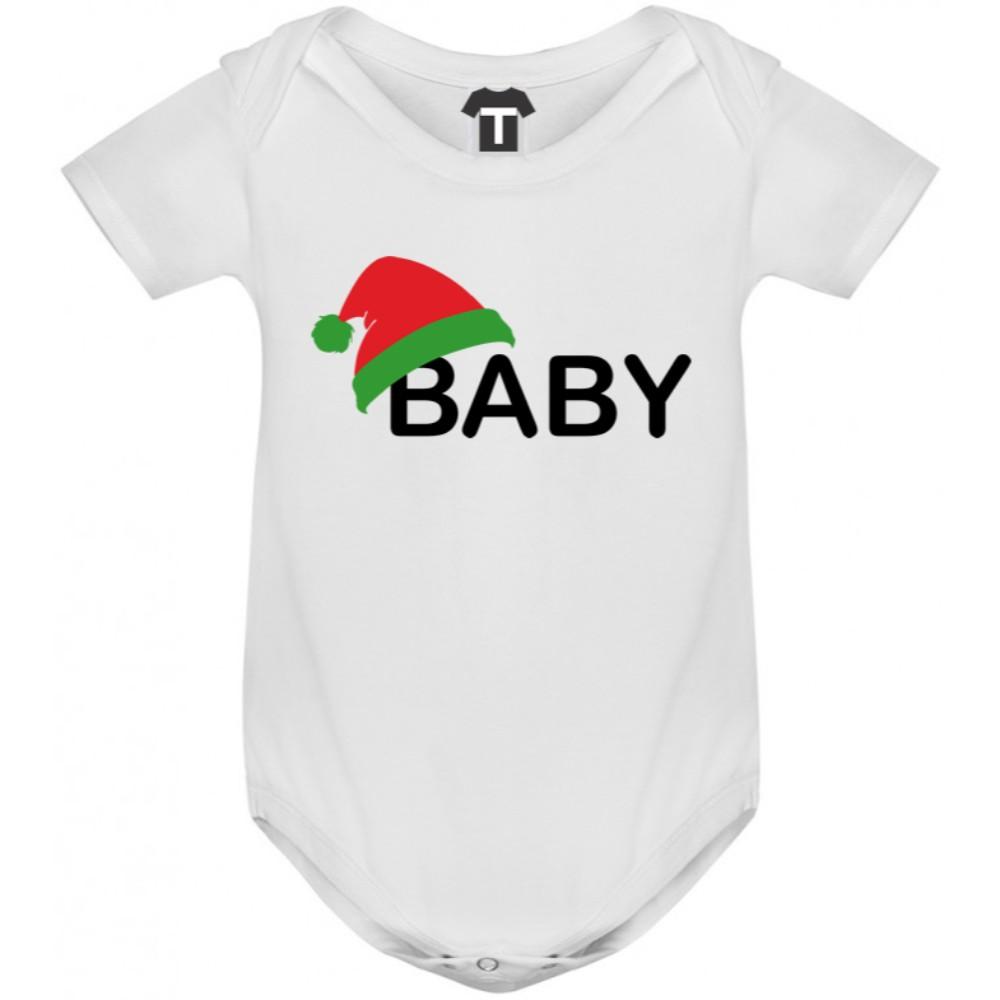 Бебешко боди в различни цветове Christmas Hat