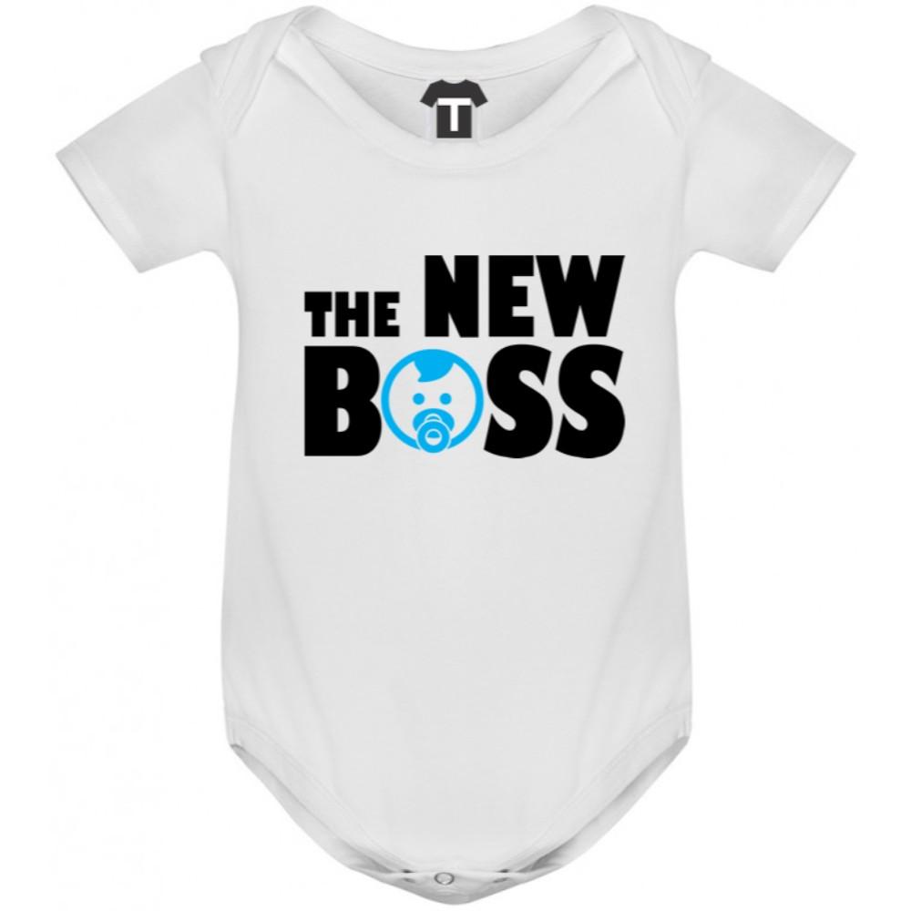 Бяло бебешко боди The New Boss
