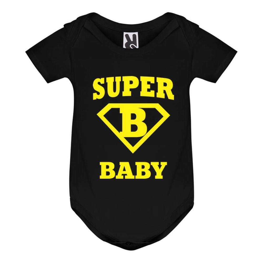 Черно бебешко боди Super baby