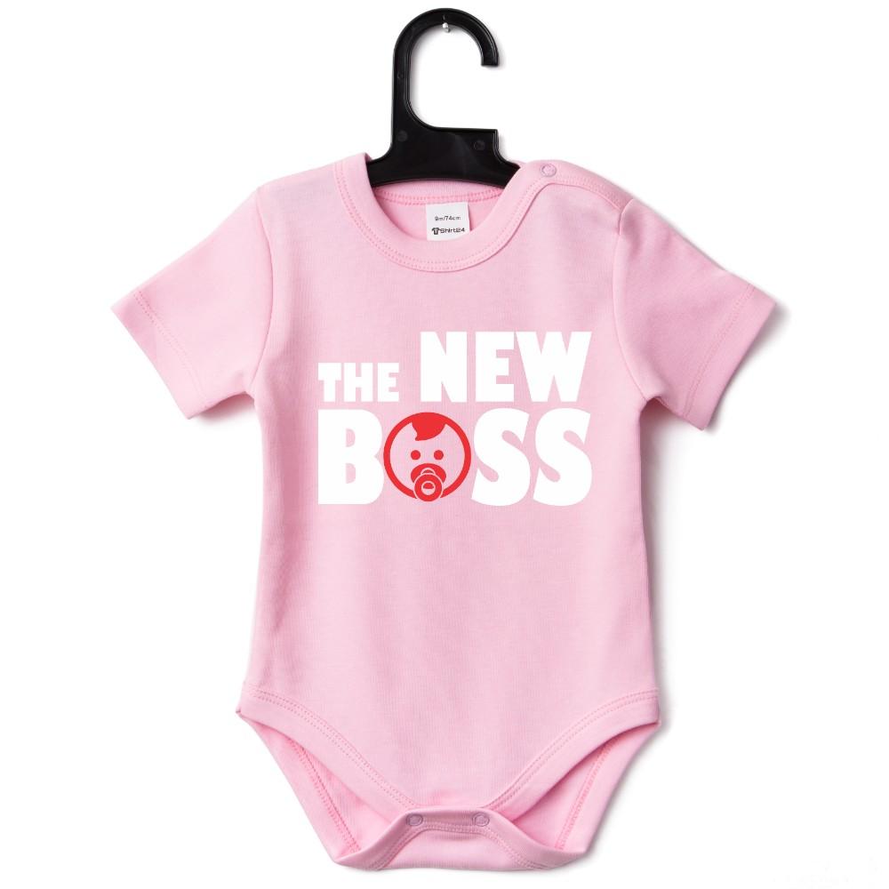Розово бебешко боди The New Boss