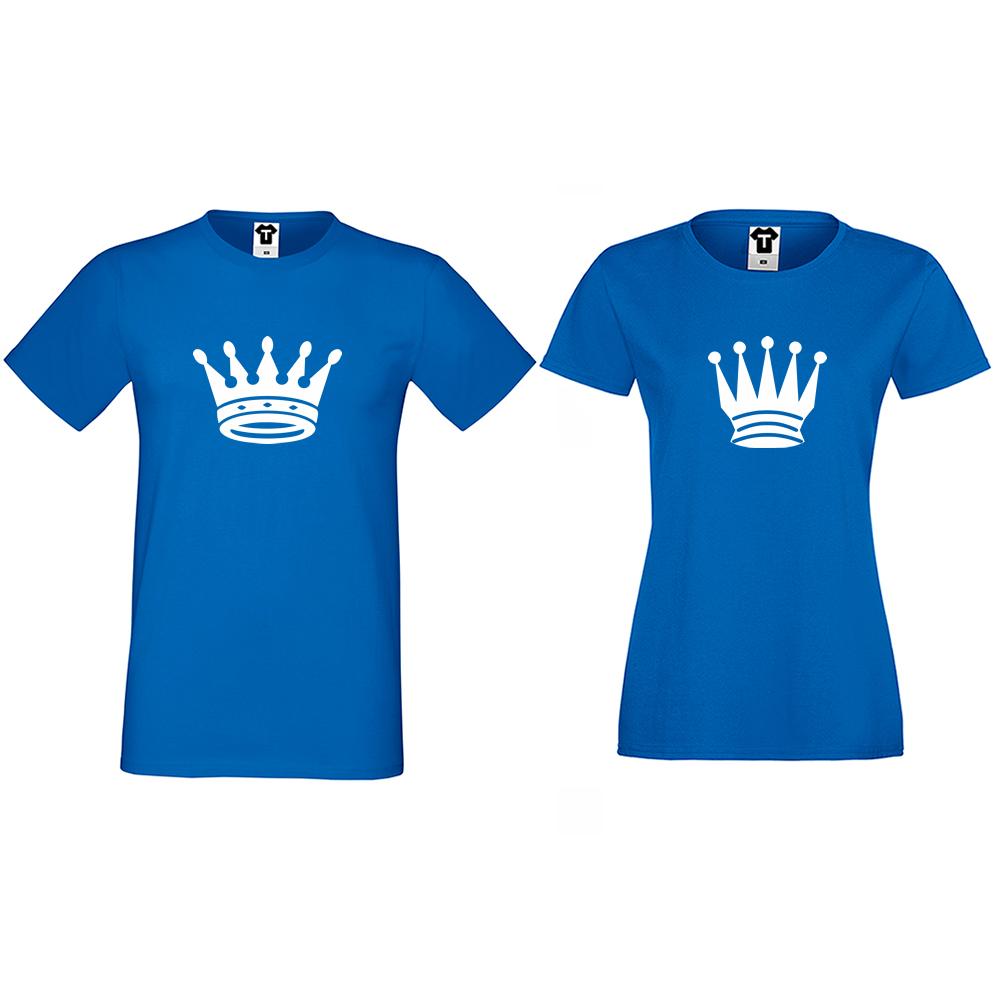 Тениски за двойки в синьо Big Crowns
