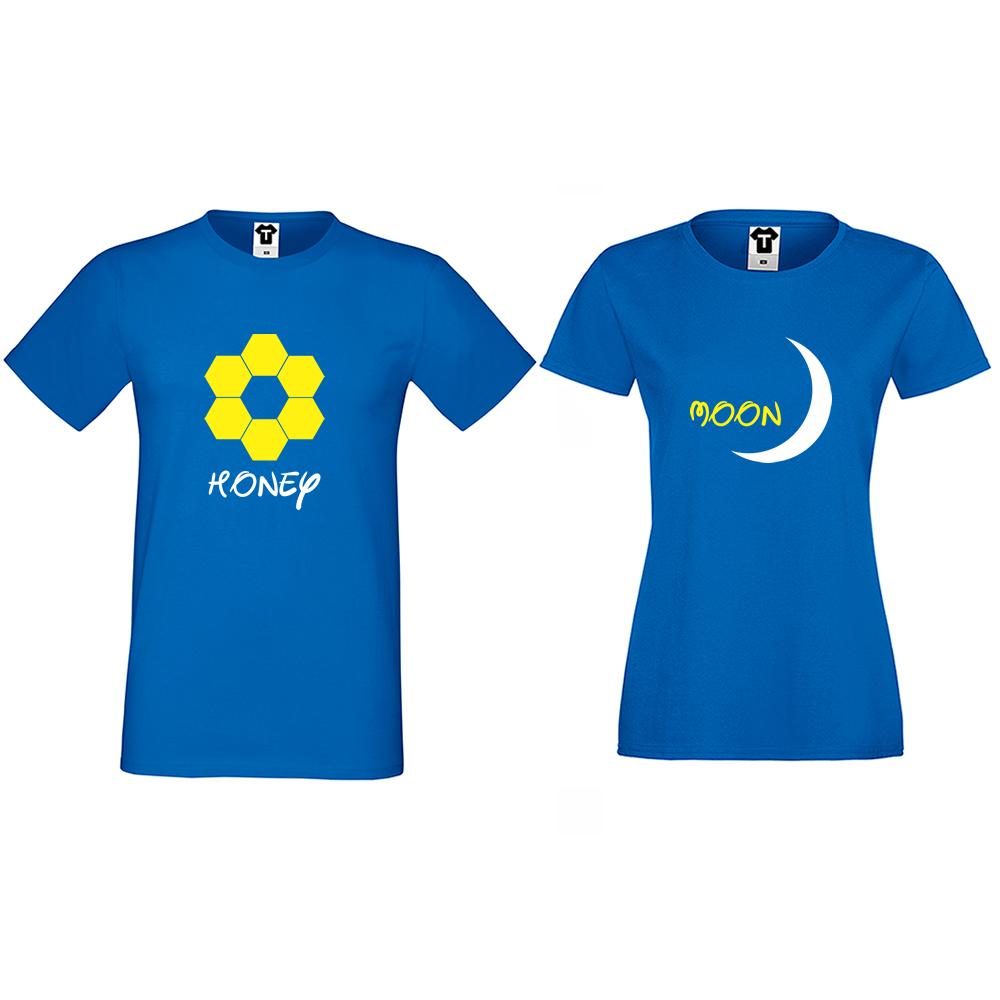 Тениски за двойки в синьо Honeymoon