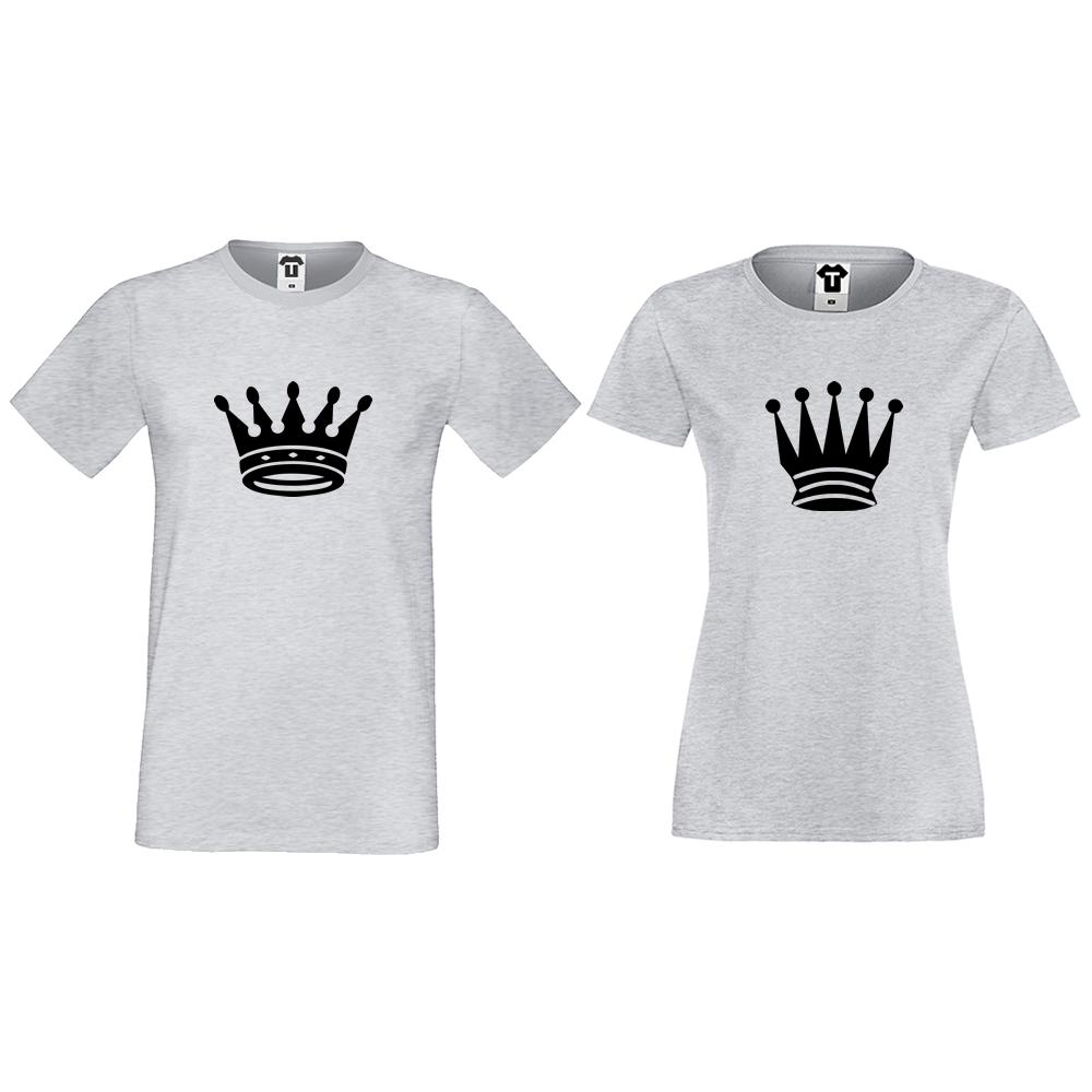 Тениски за двойки в сиво Big Crowns