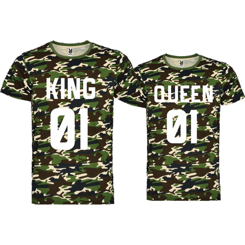 Комплект камуфлажни тениски KING 01 QUEEN 01