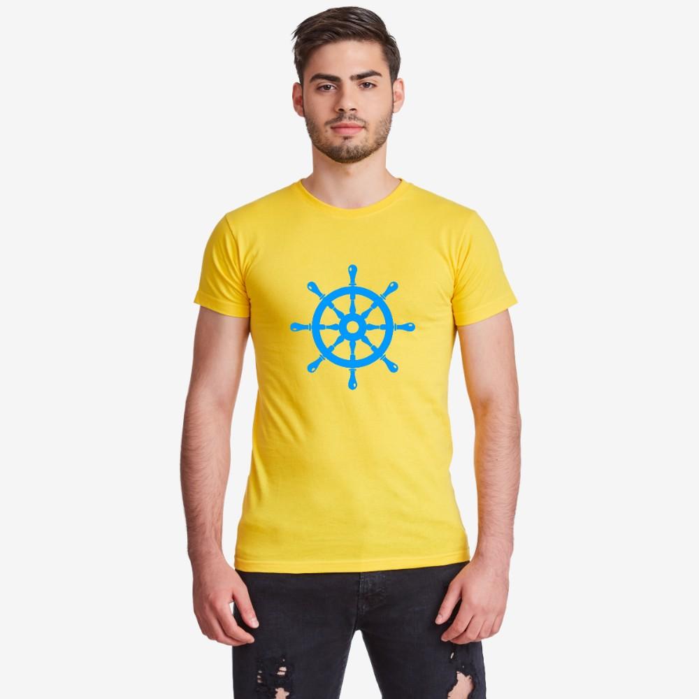 Мъжка бяла или жълта тениска Rudder