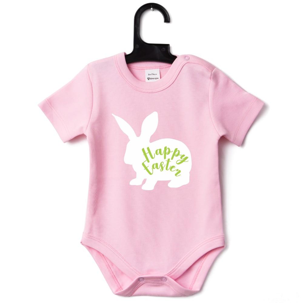 Бебешко боди в различни цветове Happy Easter