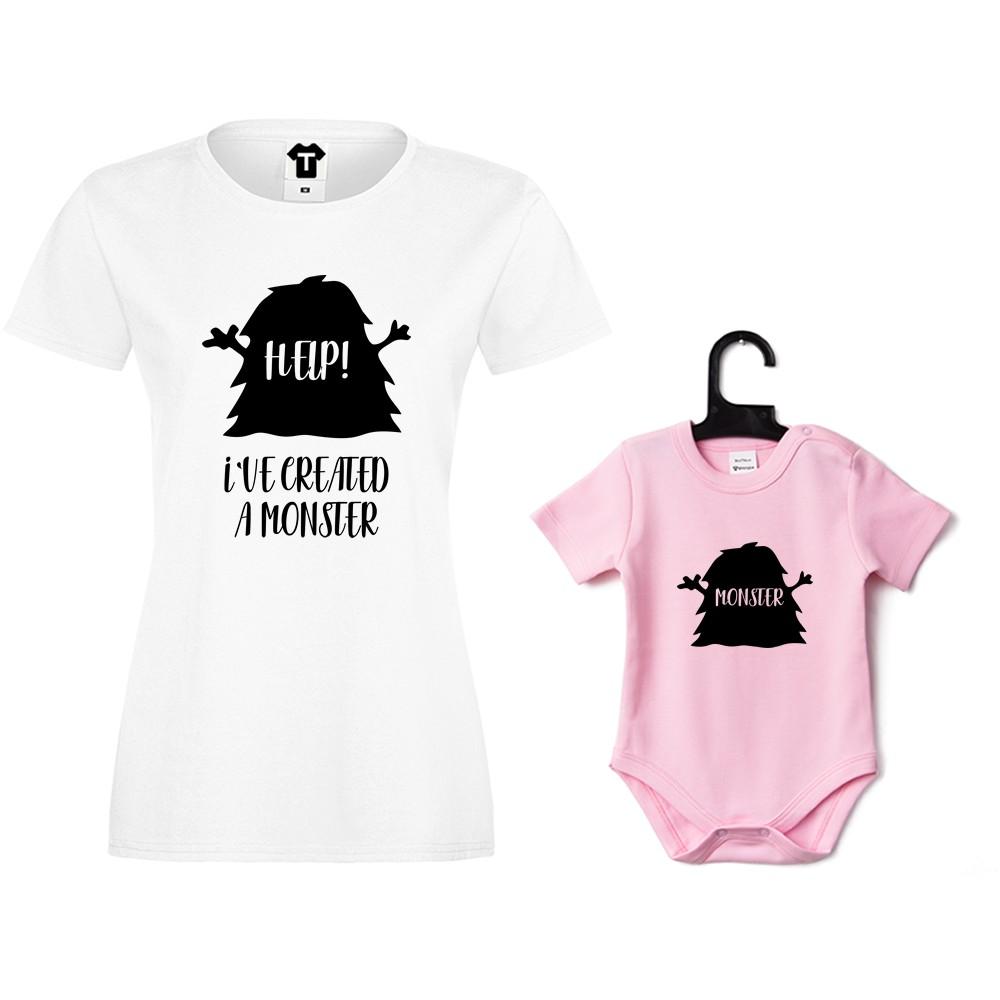Дамска тениска и розово бебешко боди Help! I have created a monster