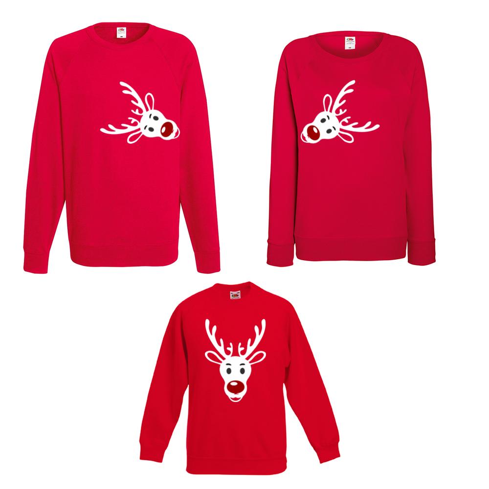 Комплект блузи мама, татко и дете Rudolph