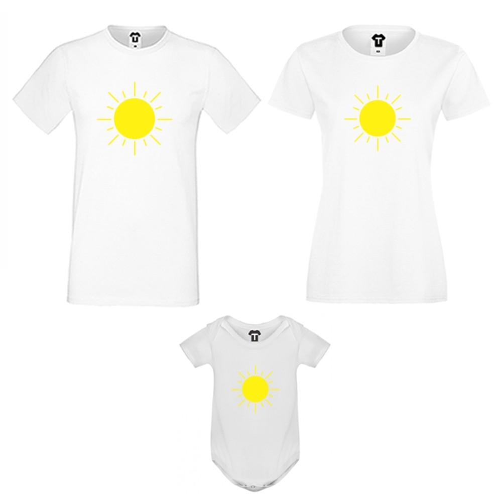 Семеен комплект в бяло или черно Sun Family
