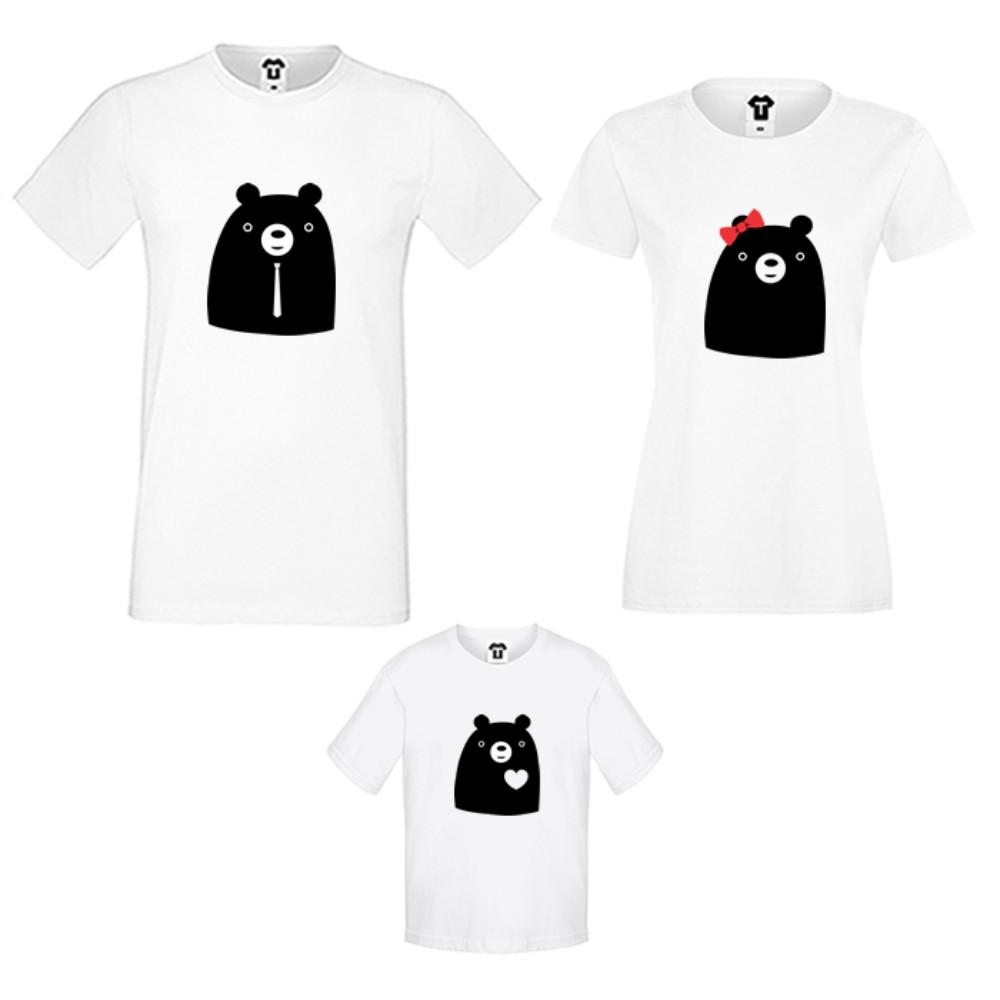 Семейни тениски в бяло или черно Big Bears