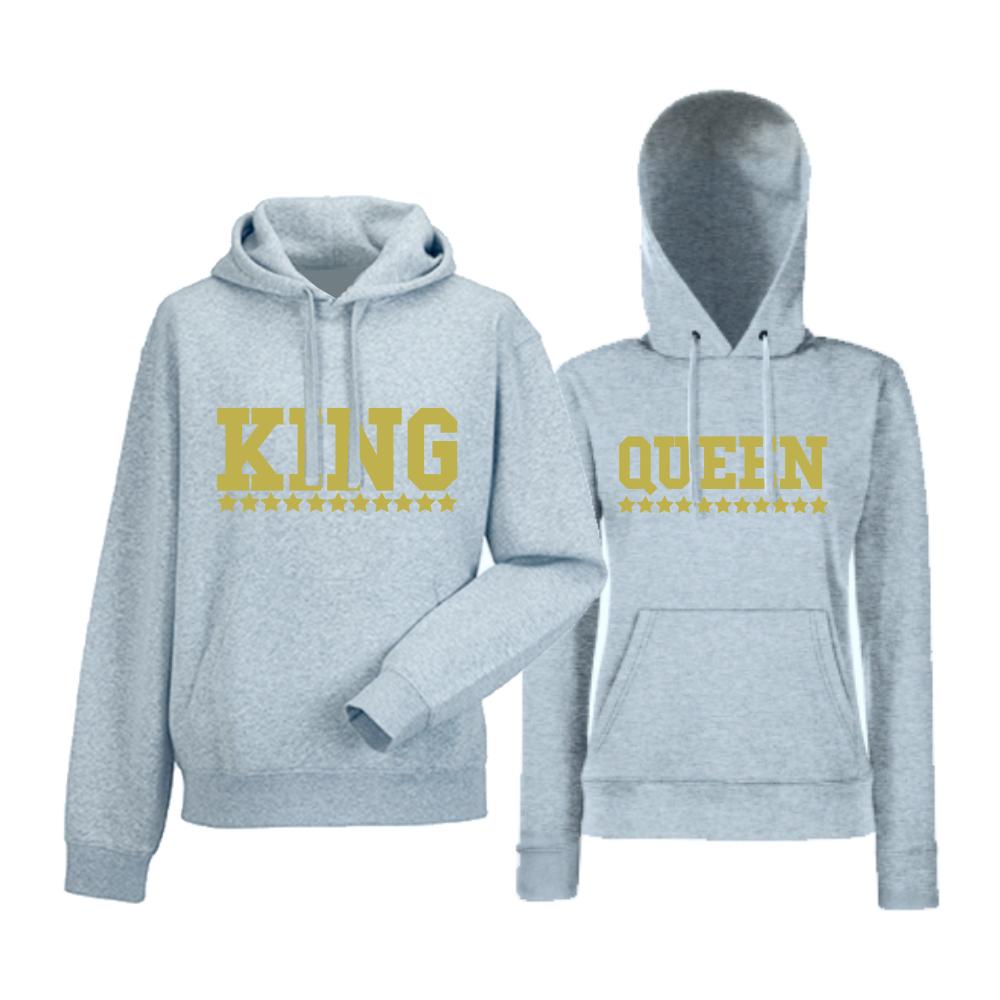 Комплект сиви суитчери за двойки King - Queen