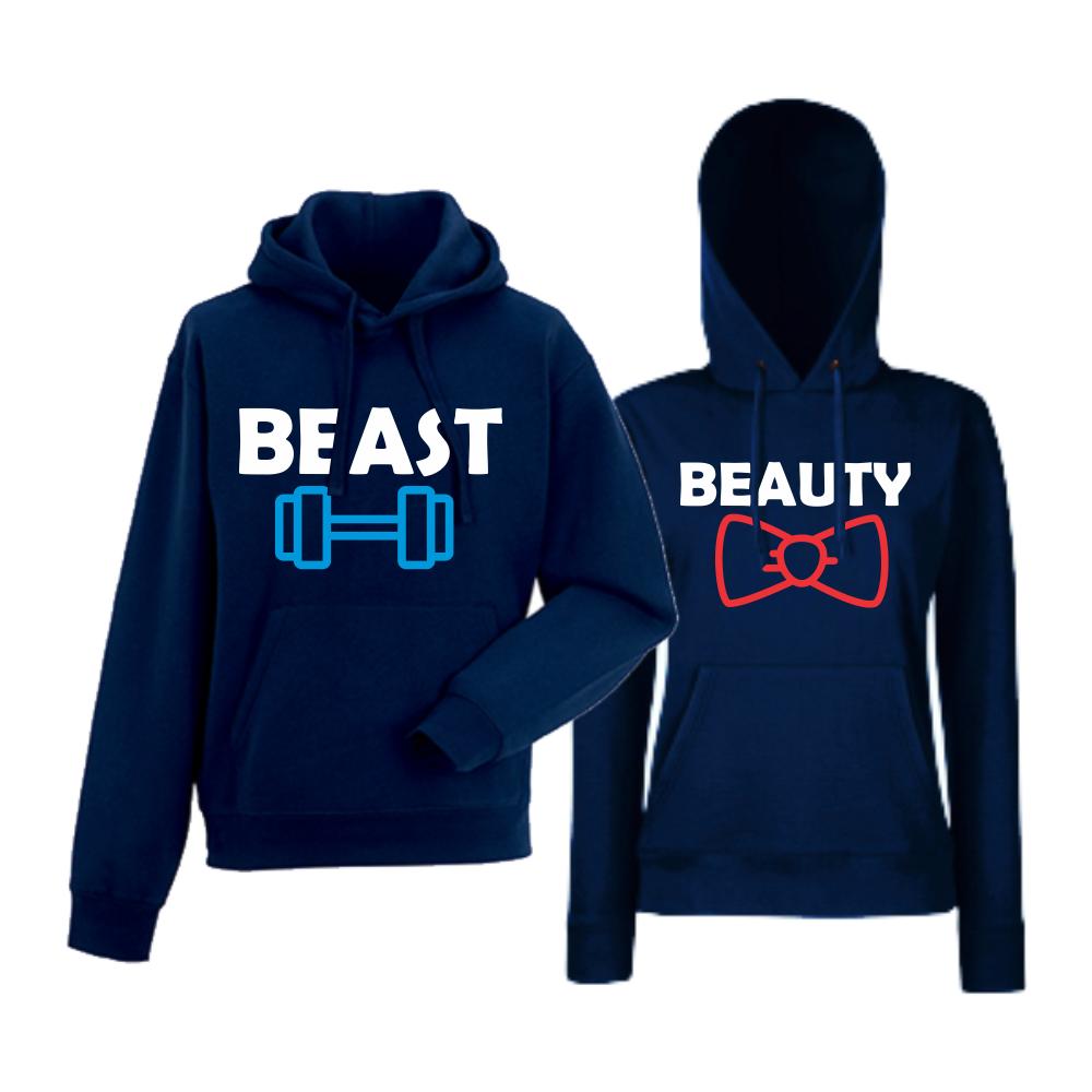 Комплект тъмно-сини суитчери за двойки  Best and Beaty