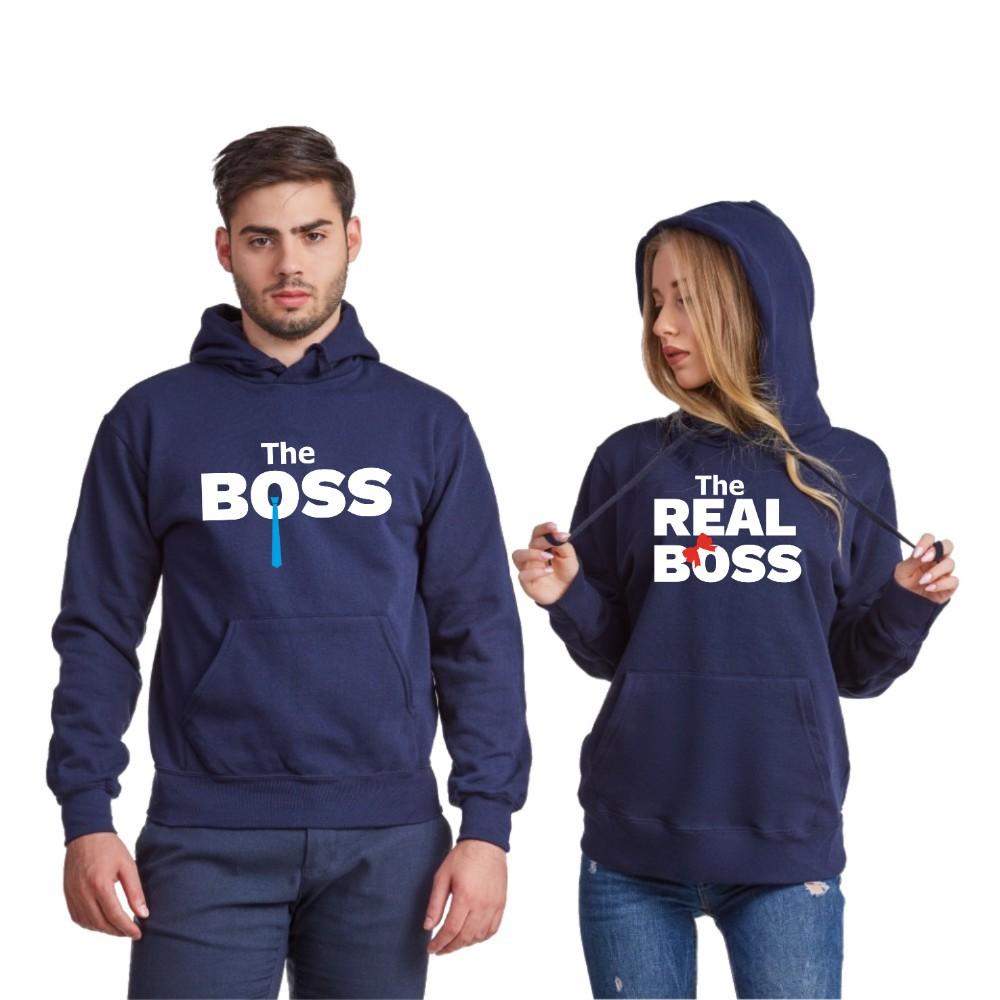 Комплект тъмно-сини суитчери за двойки The Real Boss Tie 2019