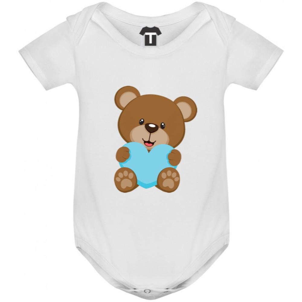 Бебешко боди Bear - Blue Heart