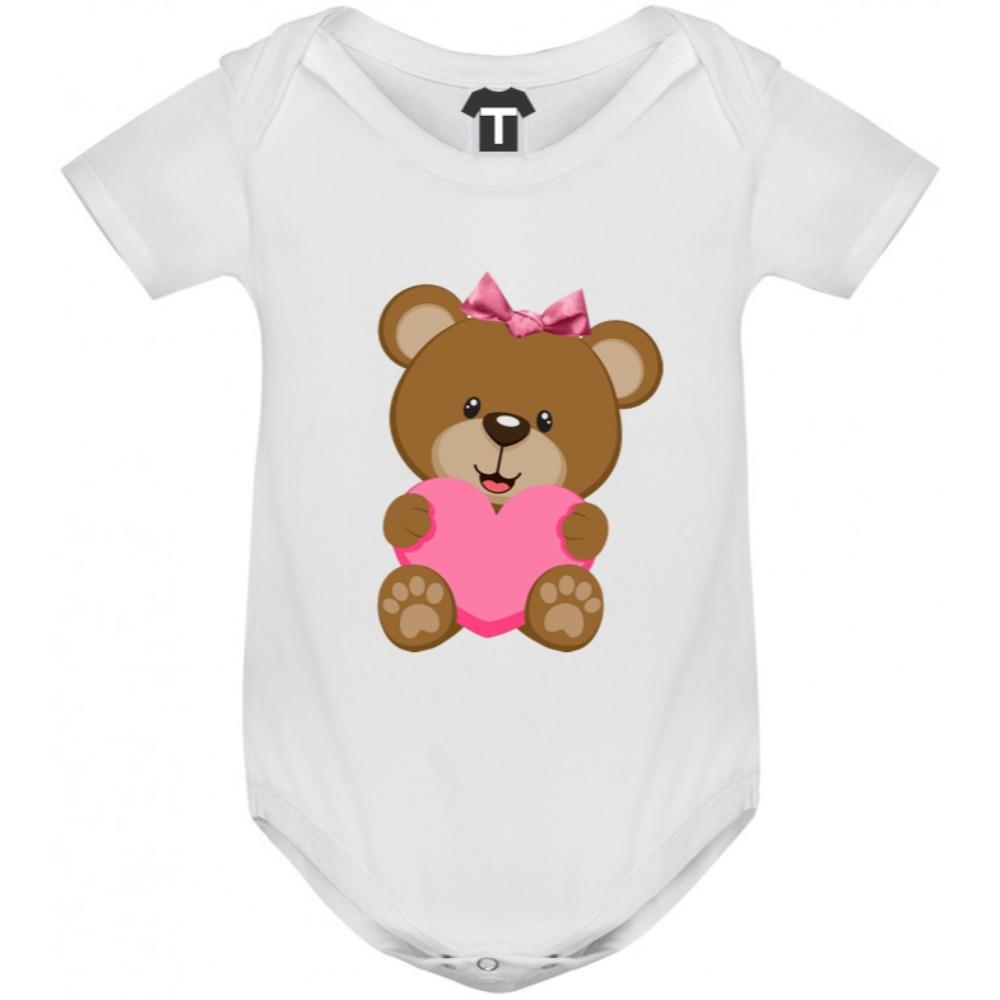 Бебешко боди Bear - Pink Heart
